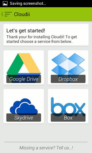 Cloudii manage multiple cloud storage services