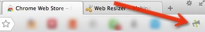 The Notifycon icon on the browser toolbar.