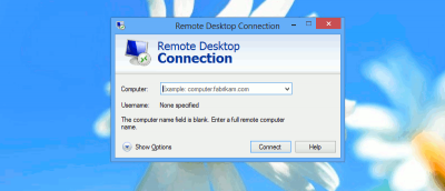 Speeding Up Remote Desktop Connection in Windows 8
