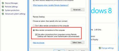 Setting Up Remote Desktop in Windows 8