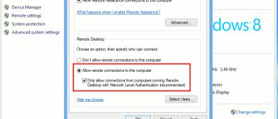 Setting Up Remote Desktop in Windows 8