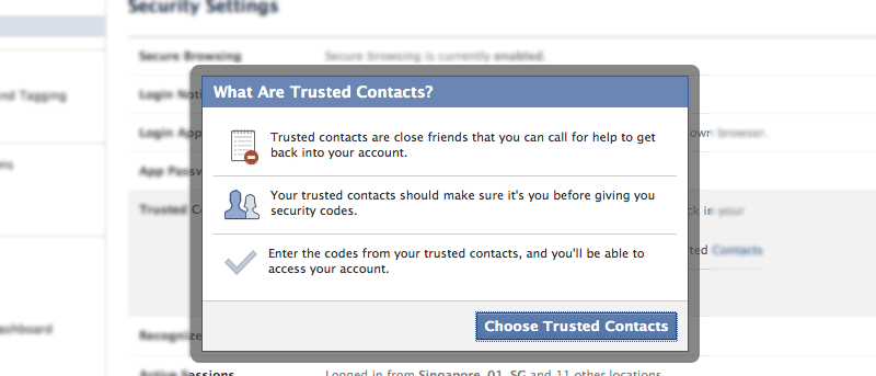 How to Enable Trusted Contacts Feature on Facebook