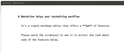 UberWriter: A Markdown Writing Application for Ubuntu