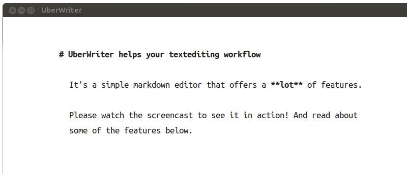 UberWriter: A Markdown Writing Application for Ubuntu