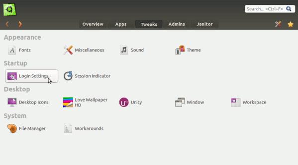 Customize LightDM using Ubuntu Tweak