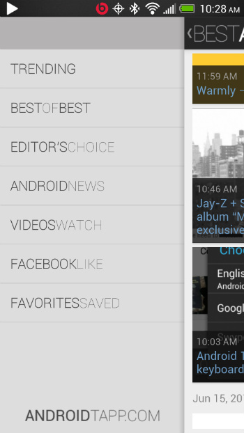 Best Android Apps Sections