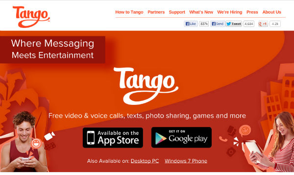 Mobile privacy with Tango VoIP