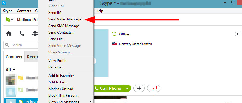 How to Send Offline Video Messages in Skype