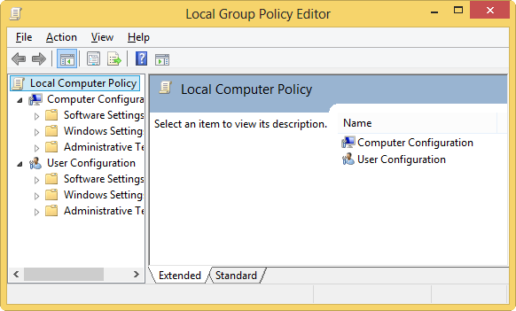 local group policy editor msc