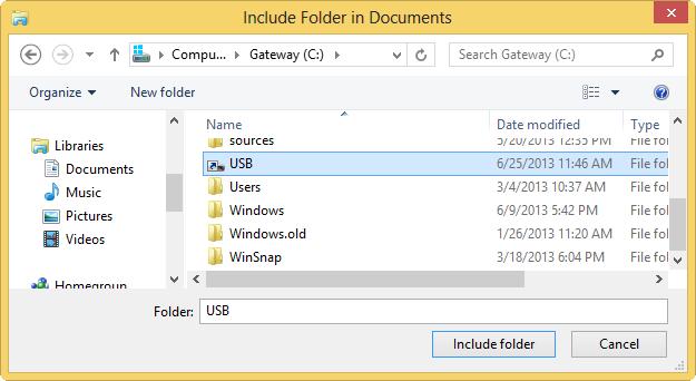including-folder