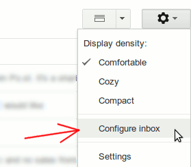 Gmail Settings Configure Inbox