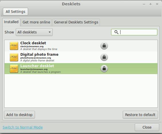 Linux Mint 15 desklets