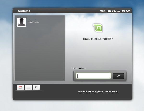 Linux Mint 15 MDM greeter