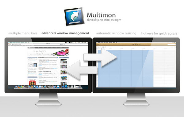 Multimon - Multiple monitor and window management app for Mac.