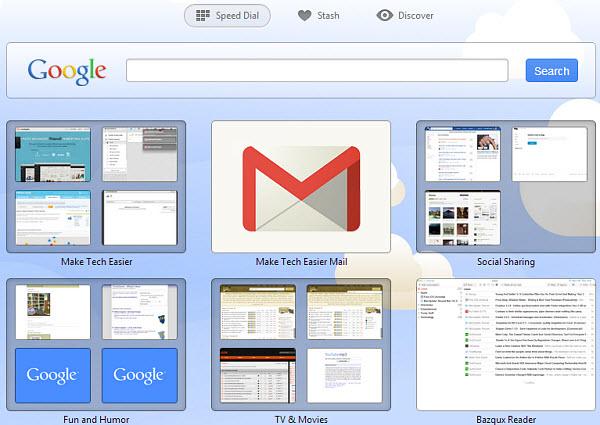 Opera Next's speed dial gives Safari a run for its money.