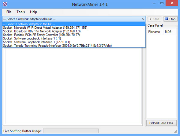 networkminer_select_interface