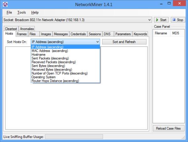 networkminer_sort_hosts