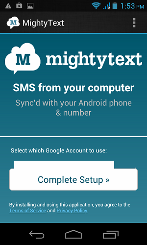Sync Android SMS Gmail Setup