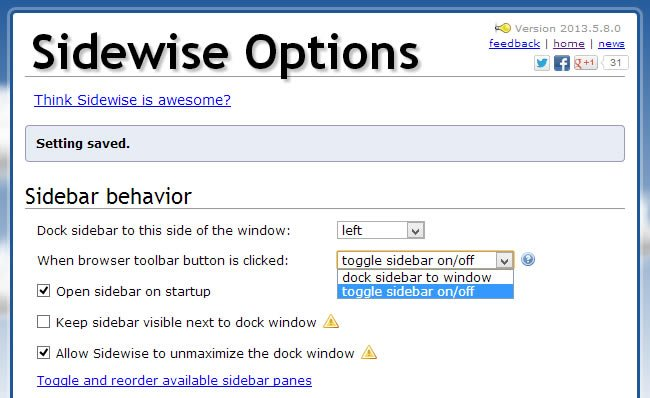 sidewise options