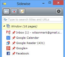 Manage Chrome Browser Tabs with Sidewise