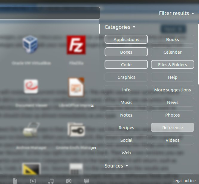 Unity Smart Scopes Filter Categories