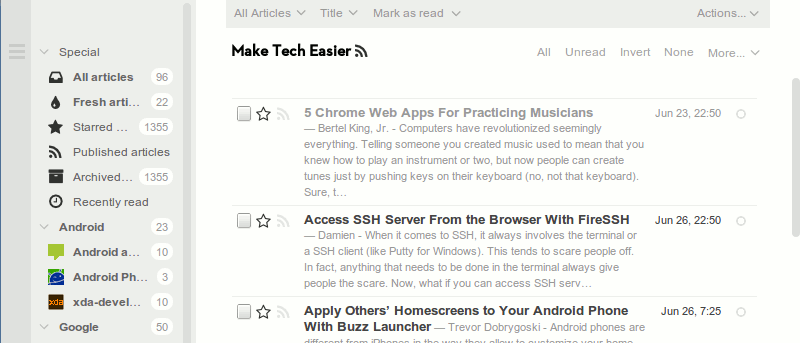 Get Your Own Self-hosted RSS Reader With Tiny Tiny RSS