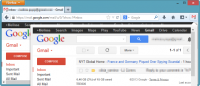 Manage Gmail from a Dedicated Panel in Firefox