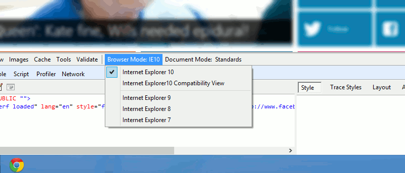 How to View A Website in IE 7, 8 and 9 Mode In Internet Explorer 10