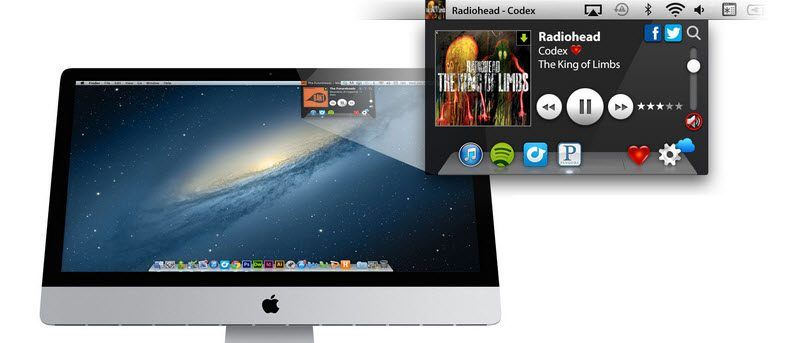 itunes player in taskbar mac
