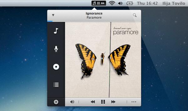 Nimblify - Lightning fast iTunes controller.