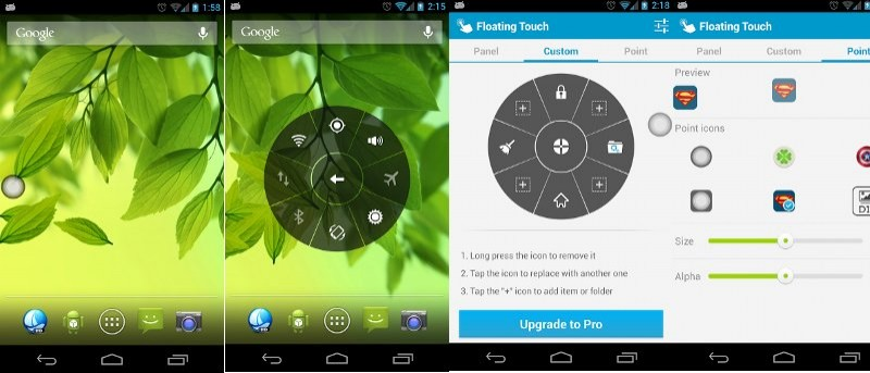 Floating Touch: Get iOS Assistive Touch For Android