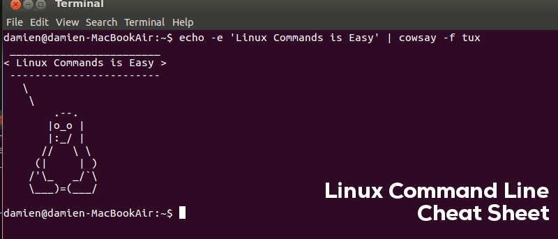 Linux Command Line Cheat Sheet + Download - Make Tech Easier