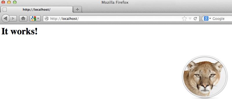 web server for mac os x mountain lion