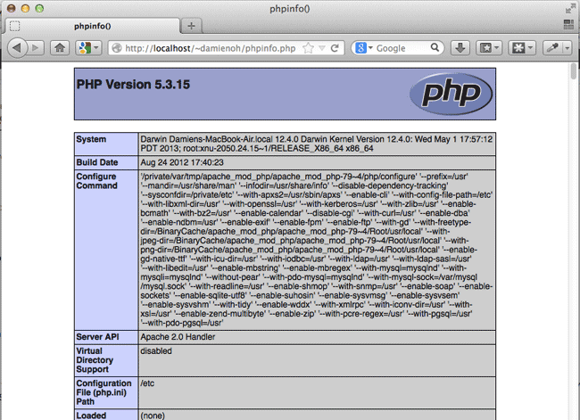mac-web-server-test-phpinfo
