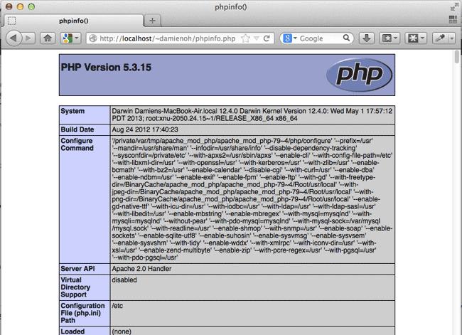 mac-web-server-test-phpinfo