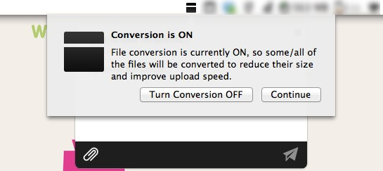 Minbox includes automatic file conversion.