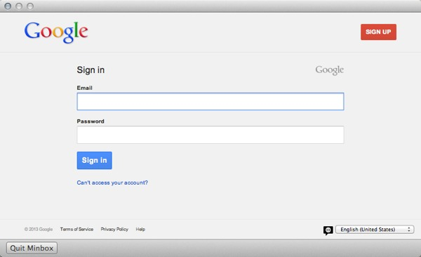 Sign into your Google account.