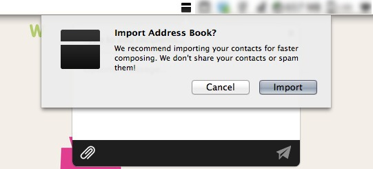 Import your address book and contacts to Minbox.