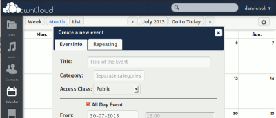 Host Your Own Calendar Server With OwnCloud