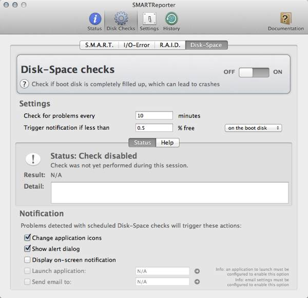 Perform various disk checks for your hard drive.