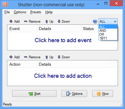 schedule tasks in Windows with shutter