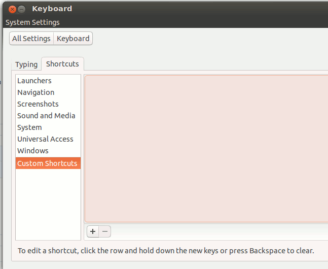 Create a custom keyboard shortcut in Ubuntu