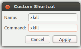 Setup a new xkill command in ubuntu