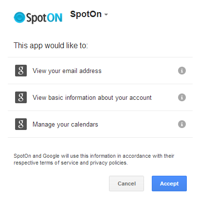 Extension permissions for Spot