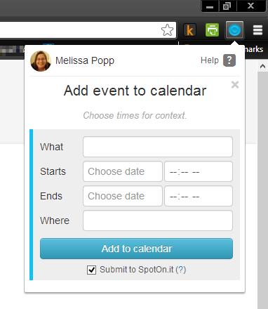 create Google Calendar event in Spot