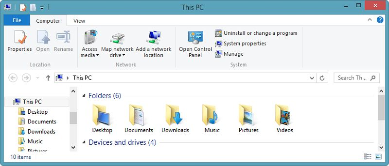 """How to Remove Folders from """"This PC"""" in Windows 8.1"""