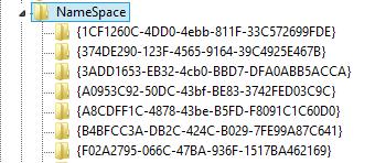 namespace-registry-entry-in-windows-8.1