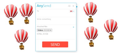 Easily Send Very Large Files With AnySend
