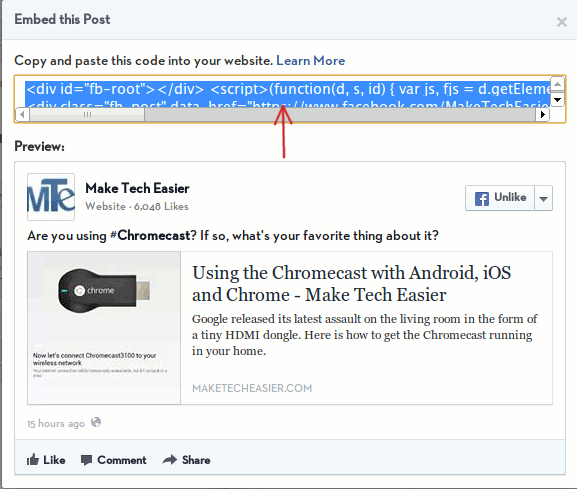 facebook-embed-post-code