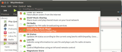 Access Google Music From Rhythmbox